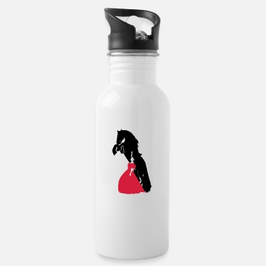Racy Wild horse and Racy woman - Water Bottle