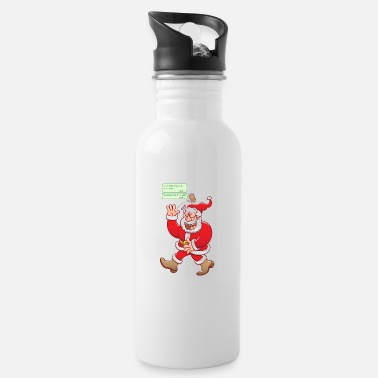 Laugh Underwear Santa laughs fake texts of good behavior - Water Bottle