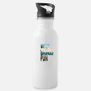 Kitesurfing Font WIND BRINGS FUN kitesurfing - Water Bottle