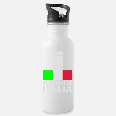 Soccer Underwear Italia Italy flag - grande italia - provocative - Water Bottle