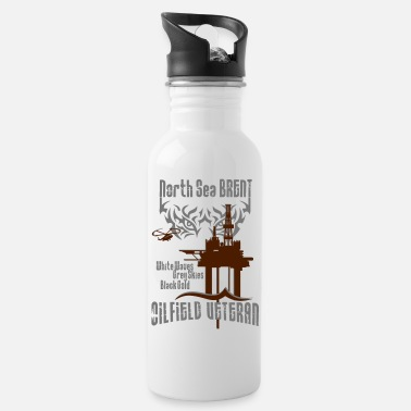 Brent Brent Oilfield Oil Rig Veteran - Water Bottle