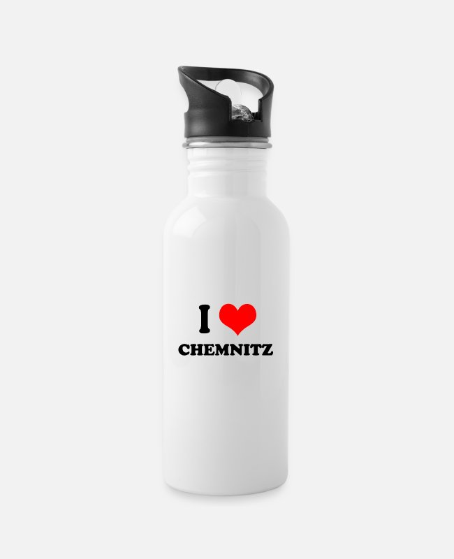Injustice Mugs & Drinkware - I Love Chemnitz - city in Saxony - Water Bottle white