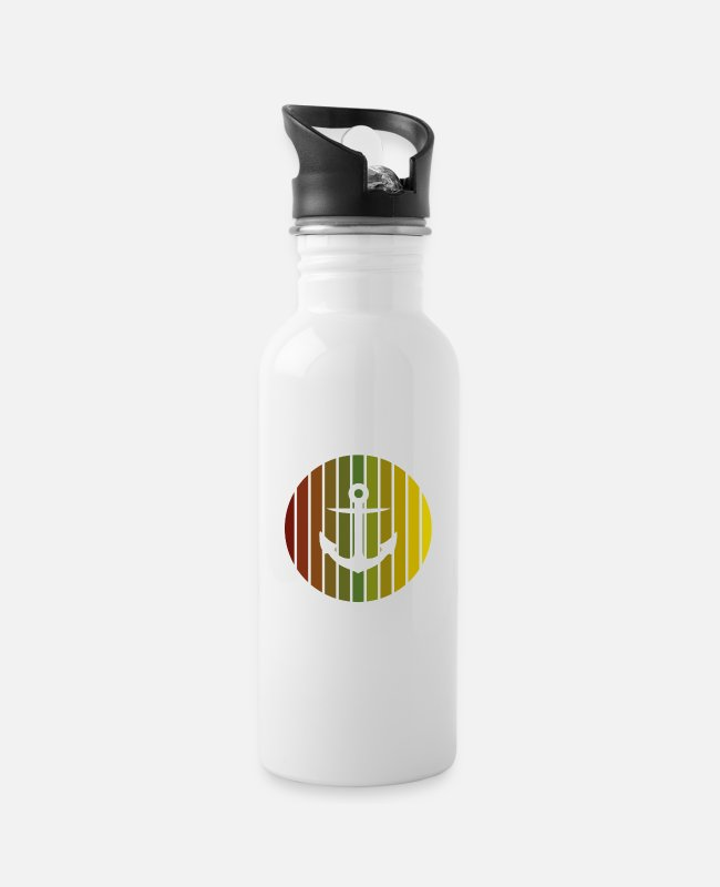 Sail Boat Mugs & Drinkware - anchor - Water Bottle white