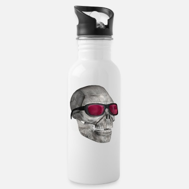 Sunglasses skull with sunglasses 3000 - Water Bottle