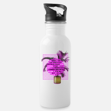 Plant-grounds Vaporwave Plant - Water Bottle