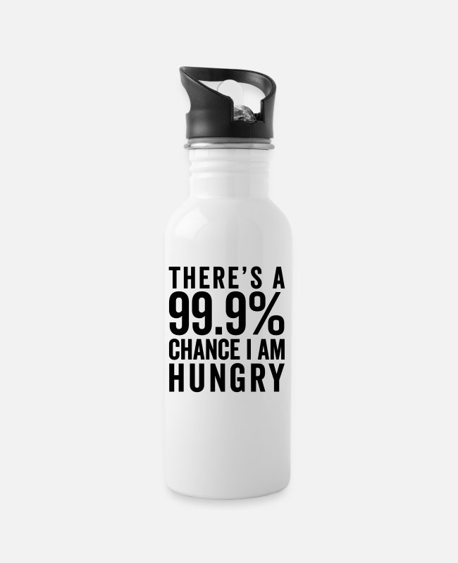 Hipster Tassen & Becher - I Am Hungry Funny Quote - Trinkflasche Weiß
