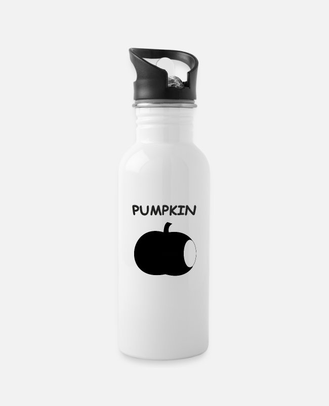 Funny Pictures Mugs & Drinkware - pumpkin - Water Bottle white