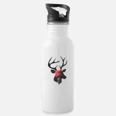 Funges Deer and Red Mushroom - Water Bottle