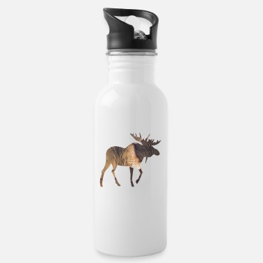 Funges Moose and Mushroom - Water Bottle