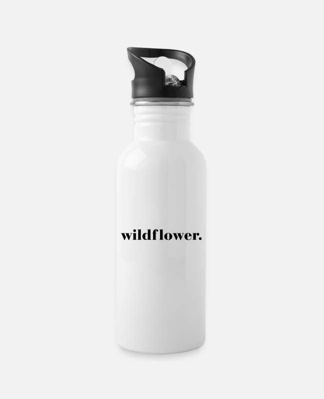 Hipster Mugs & Drinkware - Wildflower Quote - Water Bottle white