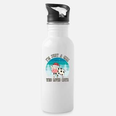 Sweet Cow Girl Who Loves Cows | Cow gift farmer saying - Water Bottle
