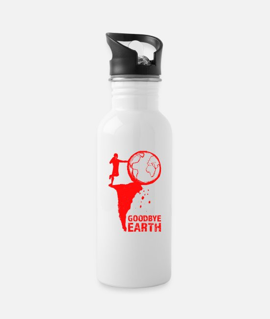 Nature Mugs & Drinkware - Goodbye Earth - Water Bottle white