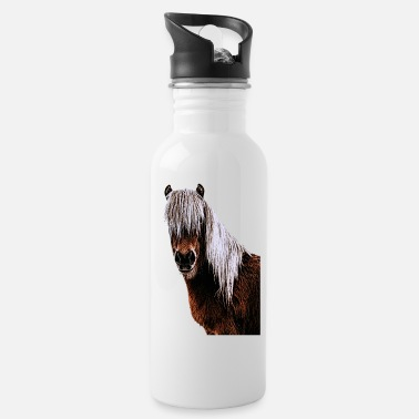 Horses horse horse head rider horse sayings - Water Bottle