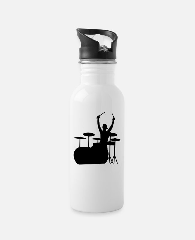 Pop Mugs & Drinkware - drummer - Water Bottle white