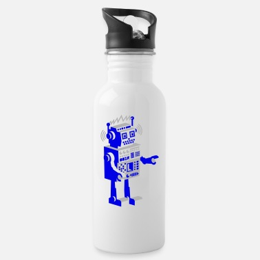 Metal Robot roboter retro robot - Water Bottle