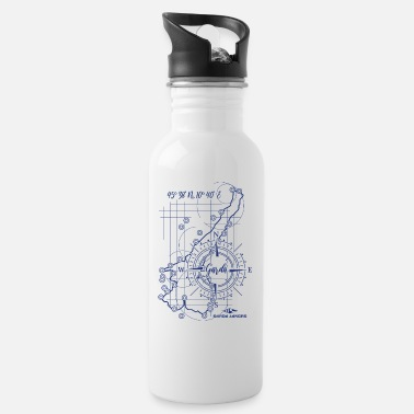 Garda Lakers compass map - Water Bottle
