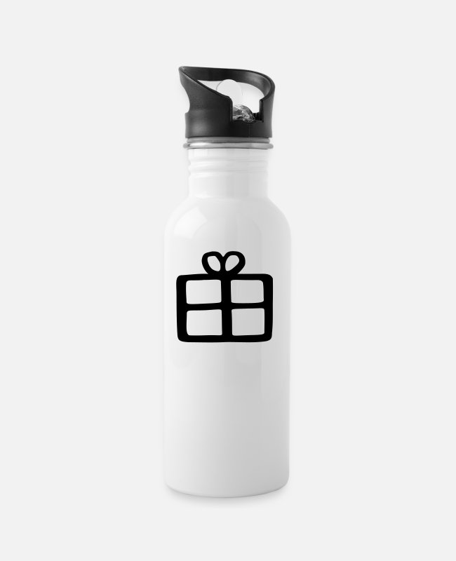 Make A Present Mugs & Drinkware - gift - Water Bottle white