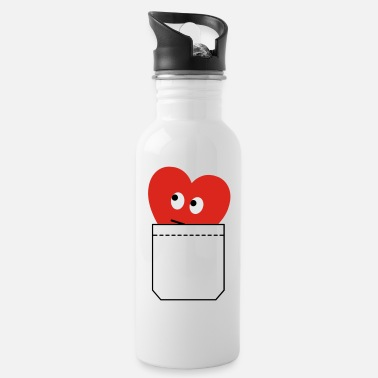 Humorous Son Provoking heart in pocket - Water Bottle