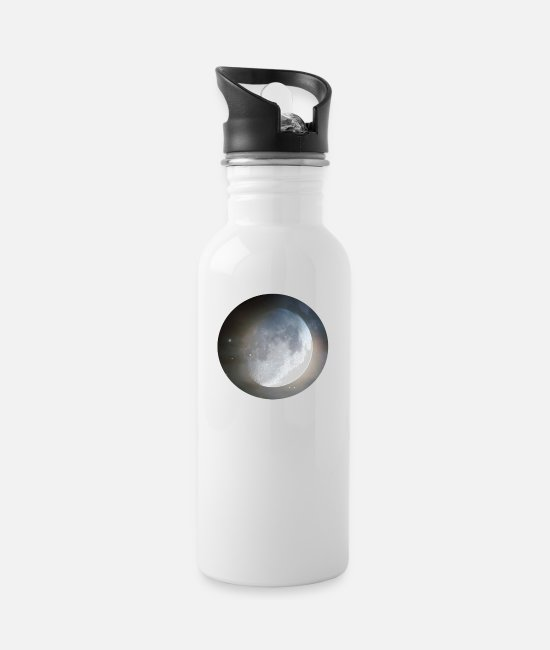 Horror Film Mugs & Drinkware - moon - Water Bottle white