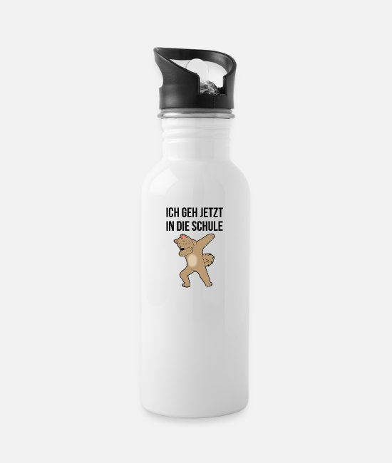 Pupil Mugs & Drinkware - I'm going to school school kid enrollment now - Water Bottle white