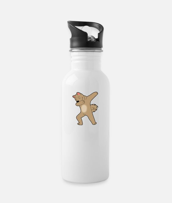 DAB Mugs & Drinkware - Cool Dog Dab Dabbing Dance Kids Gift Geek - Water Bottle white