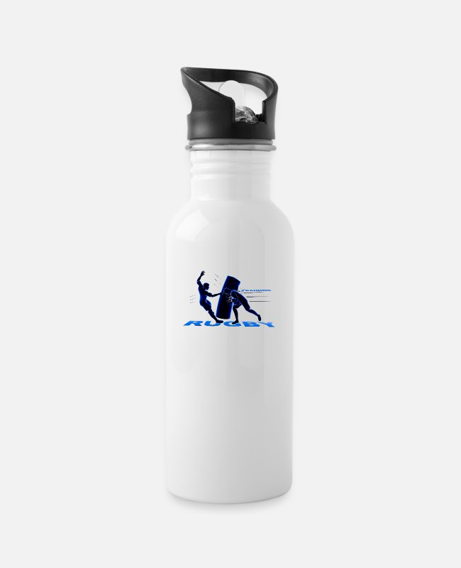 Stadium Mugs & Drinkware - RUGBY TRAINING - Water Bottle white
