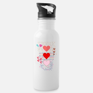 heart s - Water Bottle
