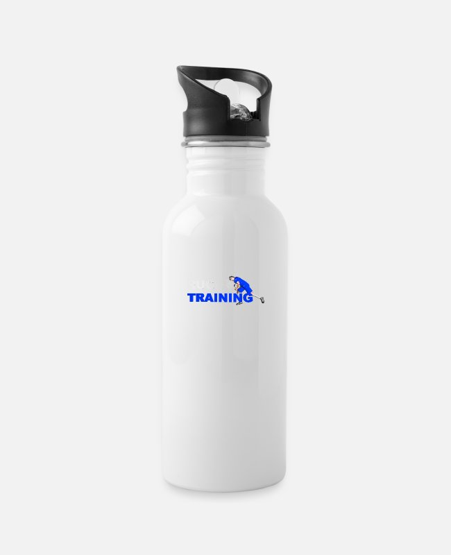 Stadium Mugs & Drinkware - RUGBY TRAINING BLUE AND WHITE - Water Bottle white