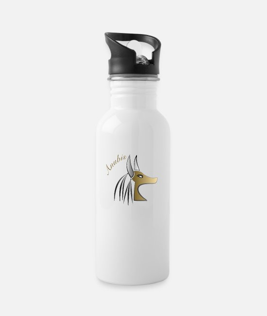 Primeval Times Mugs & Drinkware - Anubis - Water Bottle white