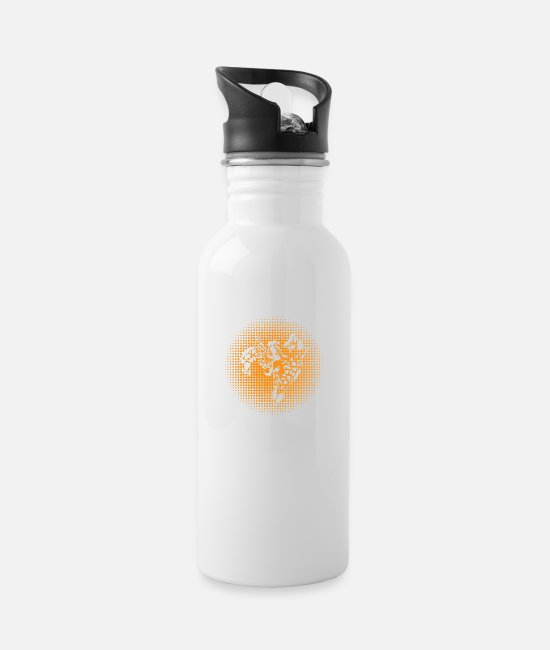 Zoo Animal Mugs & Drinkware - Giraffe love mom and baby family gift idea - Water Bottle white