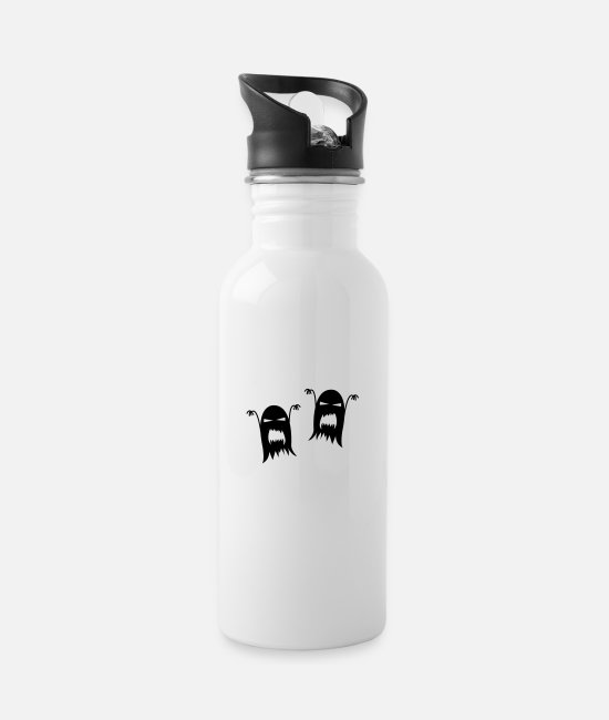 Horror Mugs & Drinkware - ghosts - Water Bottle white