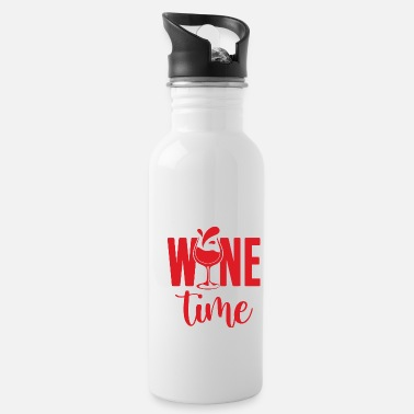 Clock Het is Wine Time Time Wine Wine Lover - Drinkfles