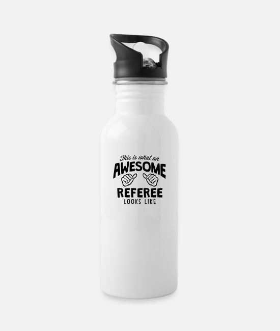 Heart Mugs & Drinkware - awesome referee looks like - Water Bottle white