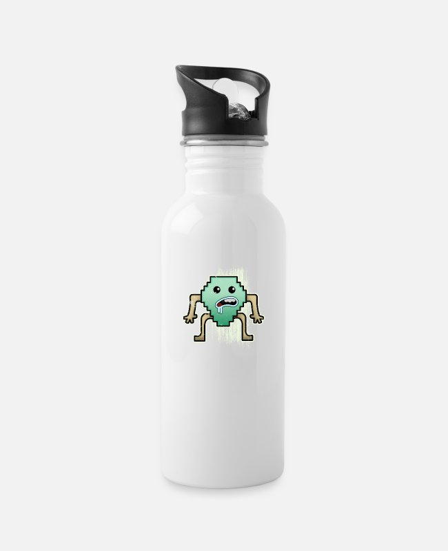 Design Mugs & Drinkware - pixel - Water Bottle white