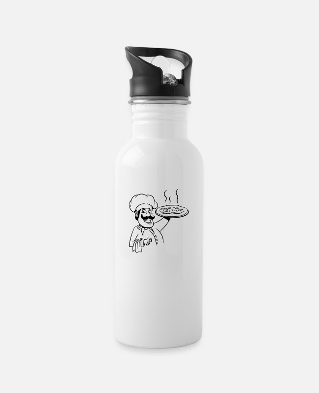 BBQ Mugs & Drinkware - Cook cook pizza - Water Bottle white