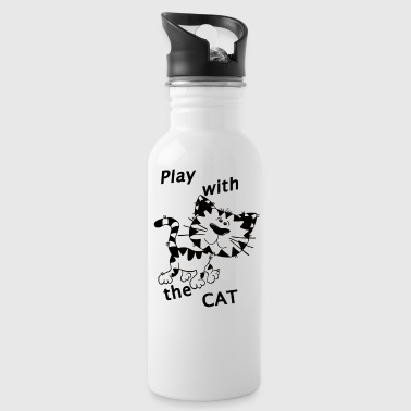 Play_Cat_Black1 - Trinkflasche