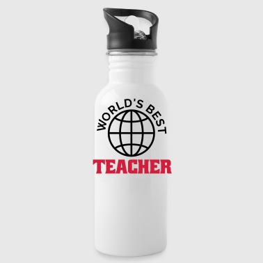 worlds best teacher - Trinkflasche