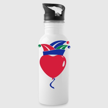 Fool Cap Heart Balloon 1, 2 or 3 colors 02 - Water Bottle