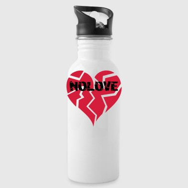 NO LOVE | Broken Heart - Trinkflasche