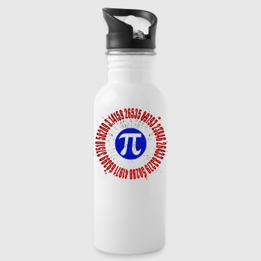 Captain Pi Superhero Shield Mathematic Symbol - Water Bottle