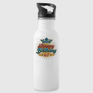 Happy Birthday 60th Birthday Gift Vintage 1958 - Water Bottle