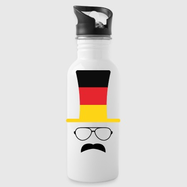 Germany flag soccer hipster fan - Water Bottle
