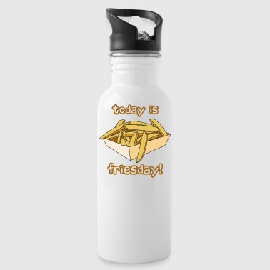 French fries gift food fastfood diet - Water Bottle