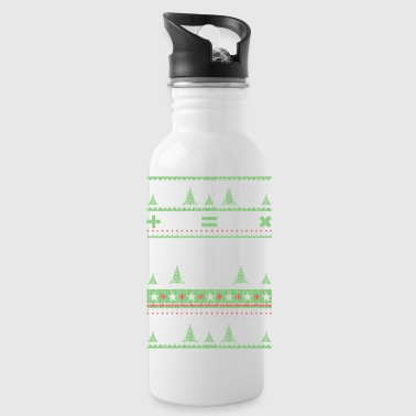 Mathematicians Ugly Christmas - Water Bottle