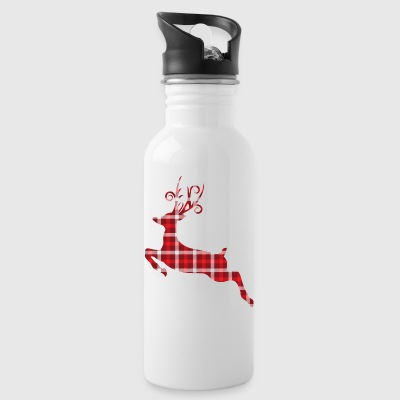Vintage Tartan Reindeer Christmas Gifts.Baby,Adult - Water Bottle