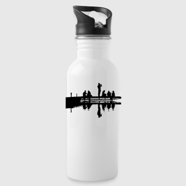 Man at the dock - Water Bottle