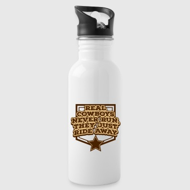 Cowboy, Western, Country Music, Horses, Line Dance - Water Bottle