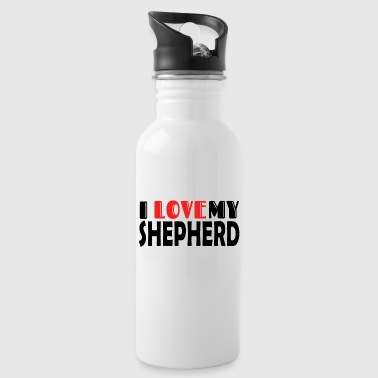 I Love German Shepherd shirt - Water Bottle