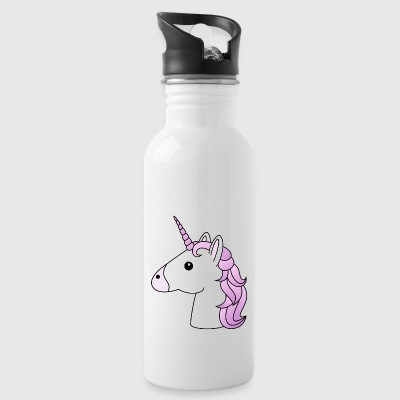 Unicorn head in lilac - Water Bottle