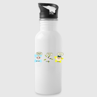 Medicine becoming a doctor student process Bottles & Mugs - Water Bottle